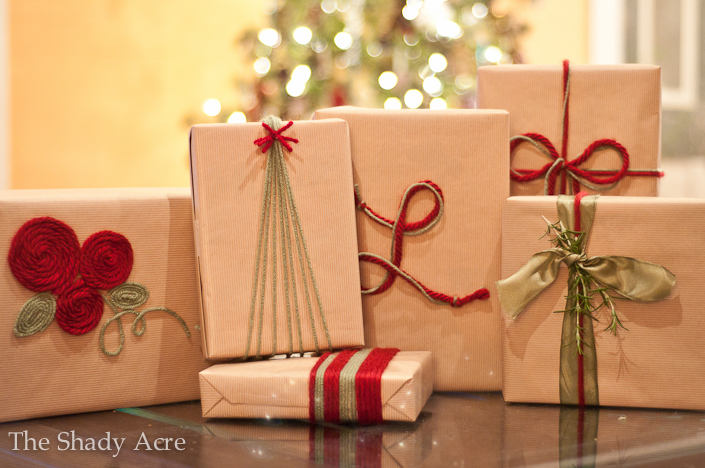 Inexpensive gift wrap ideas using yarn the shady acre inexpensive gift wrap ideas using yarn negle Choice Image